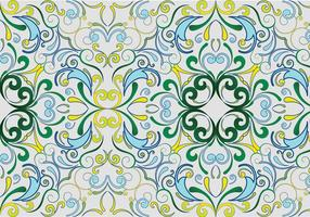Green seamless garden pattern vector
