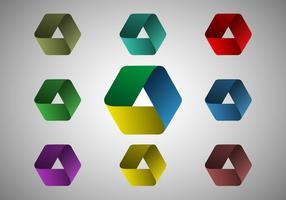 Gratis oändlig origami vektor