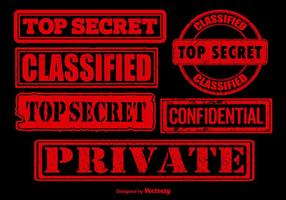Red top secret stamp vectors