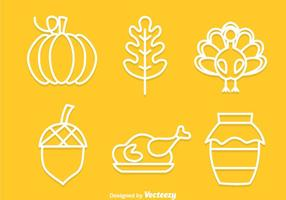 Thanksgiving Outline Pictogrammen