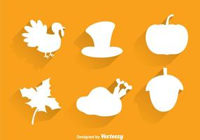 Thanksgiving Silhouette Icons vector