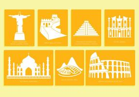 7 wonders of the world vector