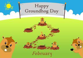 Groundhog Day!! vector