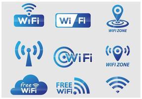 Vector de símbolos Wi-Fi