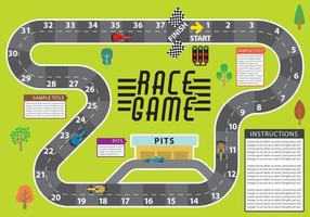 Race spel vector