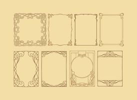Vectores del marco del Nouveau del arte