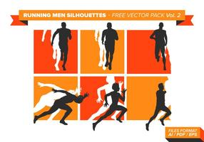 Running Men Silhouettes Gratis Vector Pack Vol. 2