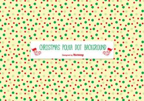 Christmas Polka Dot Pattern Background