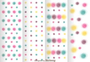 Watercolors Polka Dot Pattern