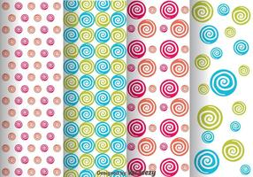 Colorful Swirl Dot Pattern