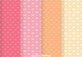 Sweet Crown Girly Vector Patterns
