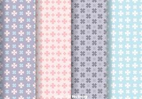 Vecteurs de motif Girly Flower Flower