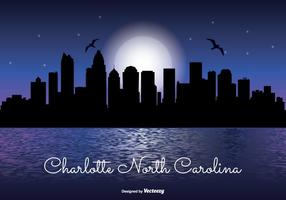 Charleston North Carolina Night skyline