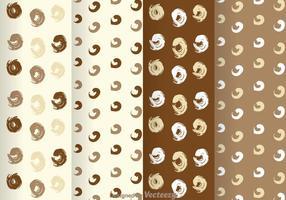 Patrón de puntos marrón