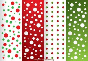 Red And Green Dot Pattern vector