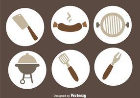 vettore di griglia di bratwurst