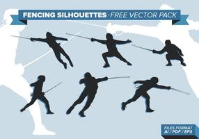 Fencing Silhouettes Free Vector Pack Vol. 2