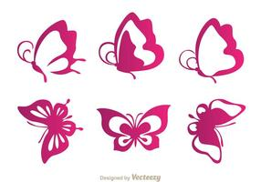 Butterfly Purple Icons vector