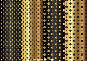 Gold And Black Dot Pattern