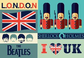 Eu amo UK Vector Pack