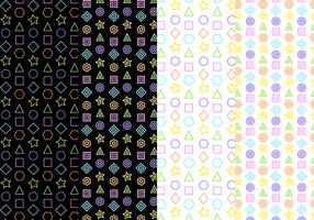 Vector de padrões geométricos grátis