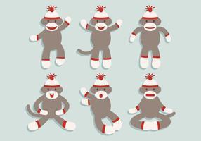 Vecteur singe chaussette