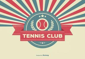 Retro Style Tennis Club Illustratie