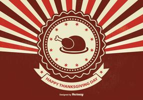 Retro Sunburst Thanksgiving Illustration