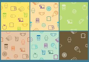 Breakfast Patterns vector