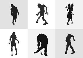 Zombie silhouet