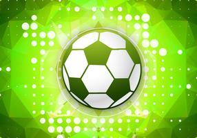 Vector de fútbol verde
