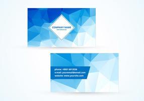 Tarjeta de visita poligonal azul del vector