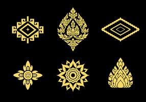 Gratis thailändsk mönstervektor