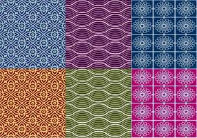 Vecteurs de motifs thaïlandais texturés
