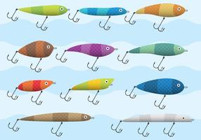 Bunte Fisch Haken Vektoren