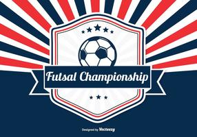 Futsal Championship Retro Illustration