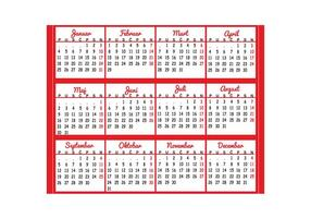Kalender 2016 Vektor