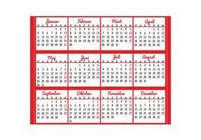 Kalender 2016 Vector