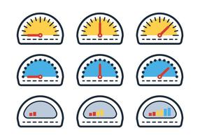 Outline Fuel Gauge vector