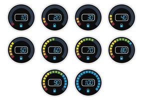 Timelapse Digital Fuel Gauge vector