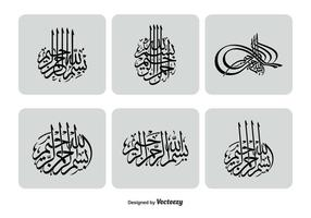 Conjunto de iconos bismillah