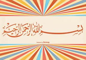 Ilustração de fundo de Bismillah