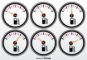 Fuel Gauge Vector Set