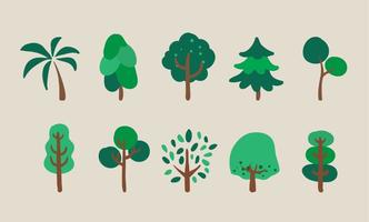 Vector Trees Illustration Set