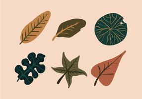 Vector Leave Illustration Set