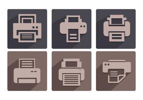 Vectores de iconos de fax