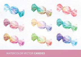 Watercolor Candies Vector Illustration