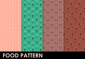 Free Food Pattern Vektor