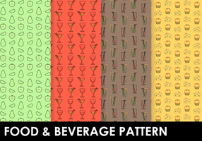 Free Food & Beverage Pattern Vektor