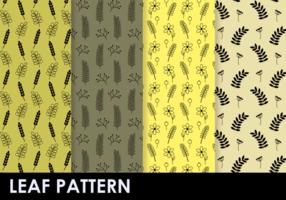 Vrije plantenpatroon vector